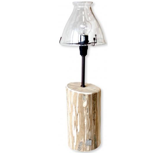Lampe Jo des bois avec abat-jour fee bleue petit modèle